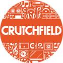 Crutchfield Circle Logo Sticker - Orange/red
