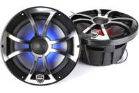 Wet Sounds REVO 8-XSB-SS (Black/Chrome XS Open Grill)