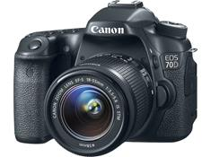 Canon EOS 70D w/ 18-55mm f/3.5-5.6 IS Lens,