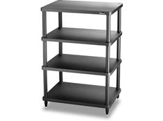 solidsteel S3-4 Audio Rack 4 Shelf- Black