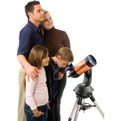 Family using the Celestron NexStar 4SE