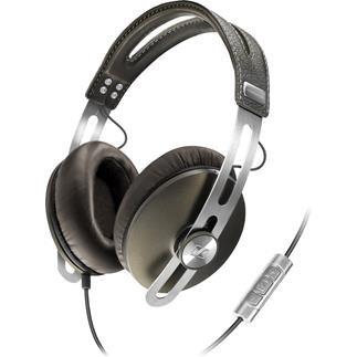 Sennheiser Momentum headphones with in-line remote and microphone