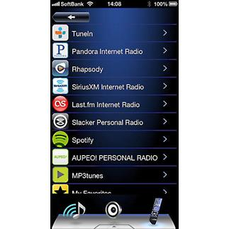 Onkyo's free remote app for Apple and Android devices