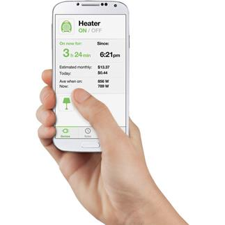 The WeMo app works to monitor and control anything plugged into the Insight Switch