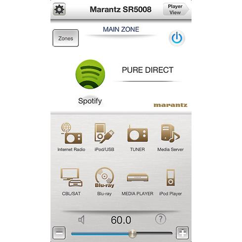 Marantz remote app for smartphones