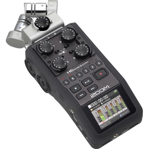 Zoom H6 handheld 6-track digital recorder