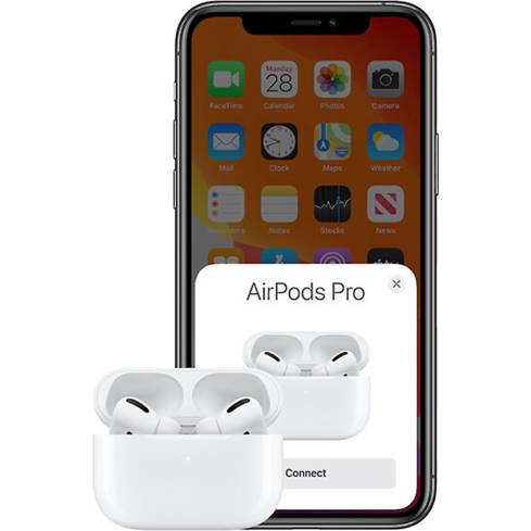 Apple AirPods Pro paired with iPhone