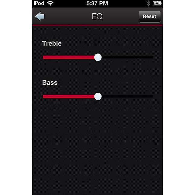 Tone controls in the Denon HEOS app