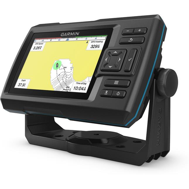 "Garmin STRIKER Plus 5cv, 5"" Fishfinder with ClearVu Sonar"