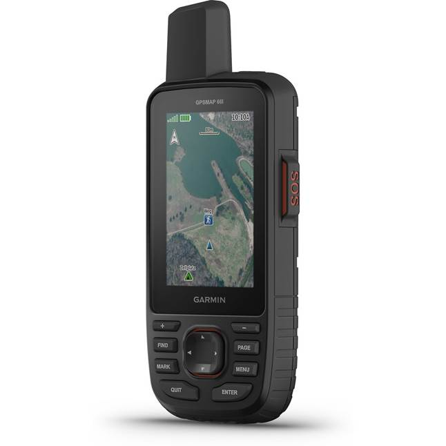 Garmin GPSMAP 66i handheld GPS device and satellite communicator