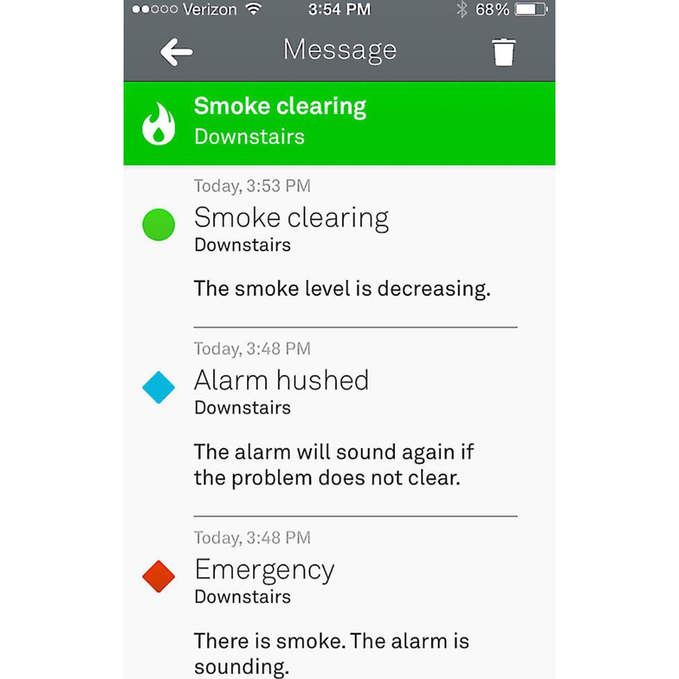Control the Nest Protect using an app