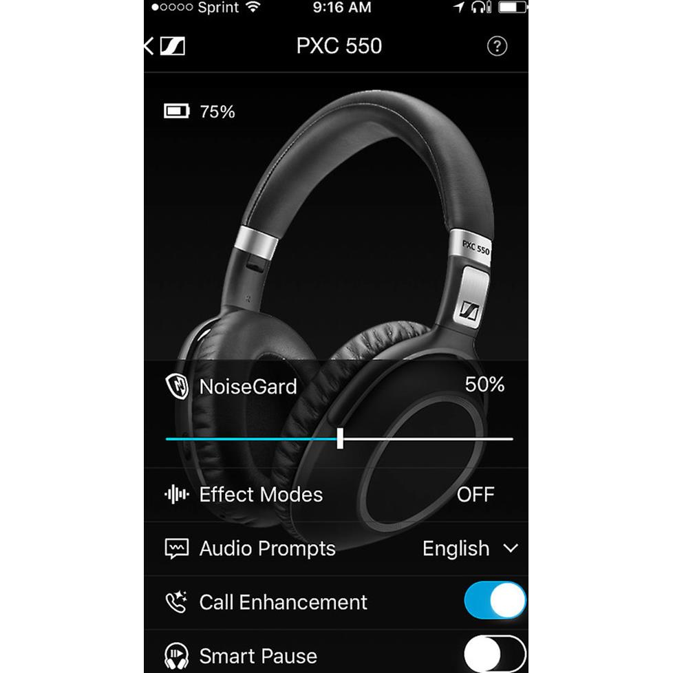 Sennheiser PXC 550 headphones and CapTune app