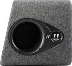 "Side-view of Kicker 40DCWR122 dual 12"" sub enclosure"