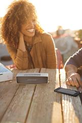 The Bose® SoundLink® Min <em>Bluetooth</em> speaker lets you take your music anywhere you are