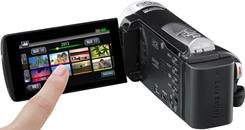 The JVC Everio GZ-EX355 features an easy-to-learn touchscreen interface