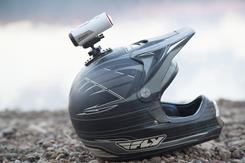 The included helmet mount will help you document your point of view (helmet not included)