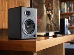 Audioengine A5+ speakers in a living room setup