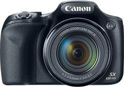 The built-in lens on the Canon PowerShot SX530 offers up to 50X optical zoom.