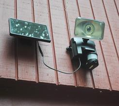 The solar-powered Maxsa 44642-CAM is a security light and video camera all in one.