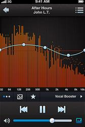 The free Denon Audio app includes graphic EQ