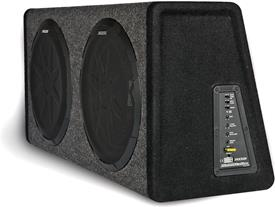 Side view of Kicker 11PHD12 powered subwoofer