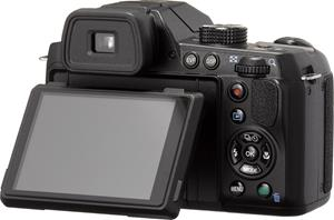 Pentax X-5 digital camera with tiltable LCD display