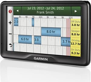 Garmin dezl 760LMT with hours of service screen