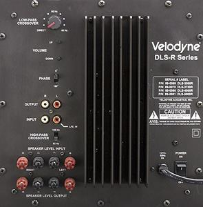 Velodyne dls 3500r black powered subwoofer with remote at a look at the subs rear panel swarovskicordoba Choice Image