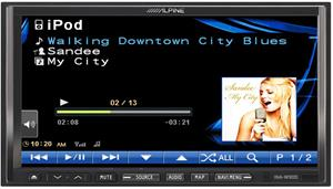 alpine ina-w900bt ipod screen