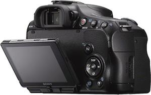 The Sony SLT-A57's articulated LCD display