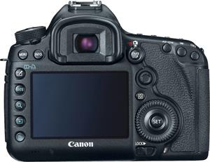The Canon EOS 5D Mark III back panel