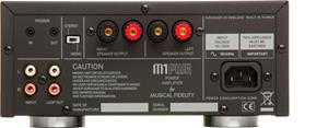 The Musical Fidelity M1 PWR back panel