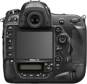 The back of the Nikon D4