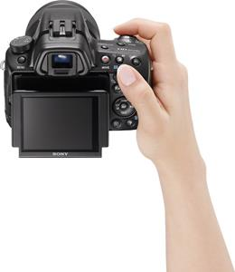 The Sony SLT-A37's tilting LCD display