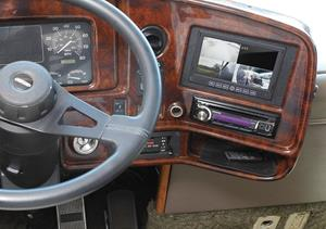 Accele's LCDRV700QUAD dash-mounted monitor