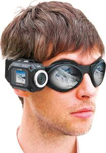 The JVC GC-XA1 Adixxion camcorder goggle mount