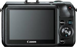 The Canon EOS M features a multi-touch LCD touchscreen display