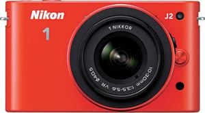 The Nikon 1 J2 hybrid digital camera