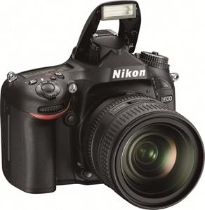The Nikon D600 full-frame DSLR