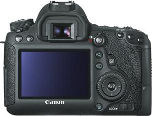 The Canon EOS 6D features a similar elegant ergonomic design to its predecessors and cousins