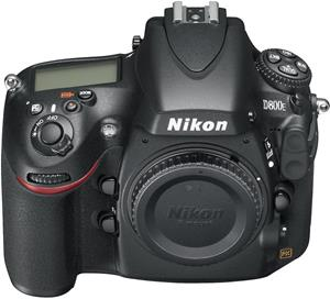 The Nikon D800E, from a high angle