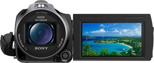 The Sony Handycam® HDR-CX760V, with the touch-screen LCD display deployed