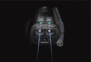 The Sony Handycam® HDR-TD20V has two full-HD sensors for high-resolution 3D imaging