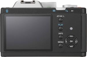 The Pentax K-01 back panel