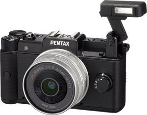 The Pentax Q's on-board flash