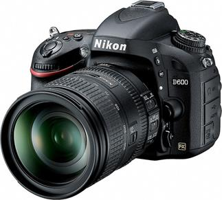 The Nikon D600 full-frame DSLR with 28-300mm lens