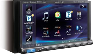 Front view of Alpine ICS-X7HD