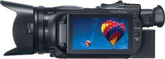 "The Canon VIXIA HF G30 features a lush 3.5"" OLED touchscreen display"