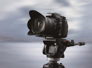 The Nikon D600 full-frame DSLR shown on tripod (not included)