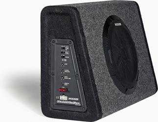 Kicker's 11PT10CA powered sub offers extensive controls for tailoring your bass.